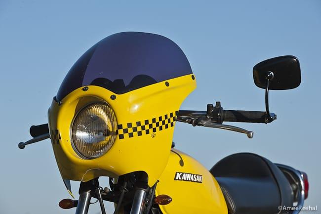 kawasaki kz200 cafe racer headlight