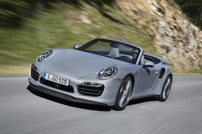2014 Porsche 911 Turbo Cabriolet front rolling