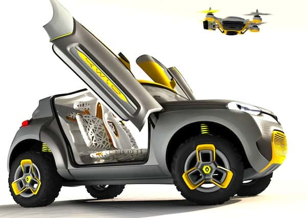 The Renault Kwid Concept: Flying Drone Included