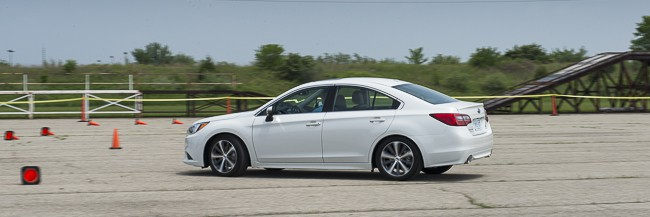 2015 Subaru Legacy review white side view