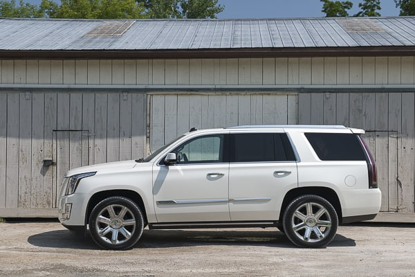 2015 Cadillac Escalade Review side view