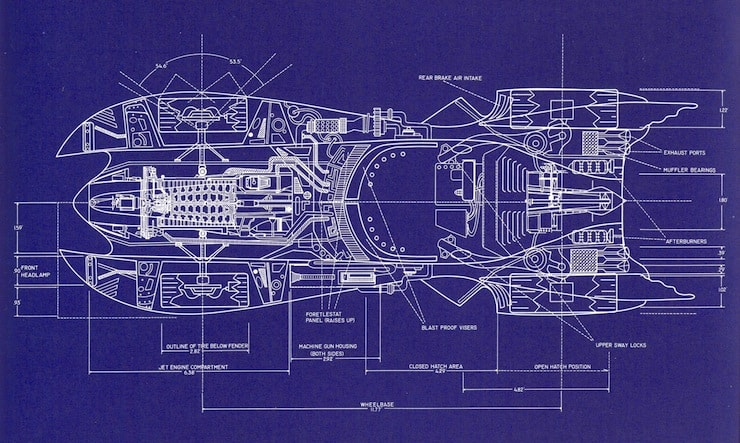 1989 batmobile blueprints provide inside look the malvernweather Image collections