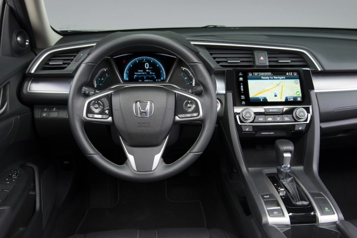 2016 honda civic touring review interior