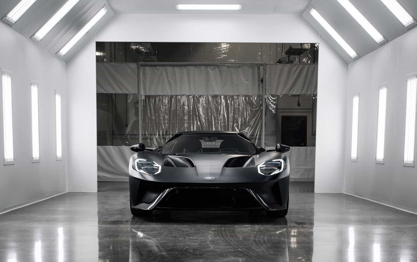 2017 ford gt on assembly line