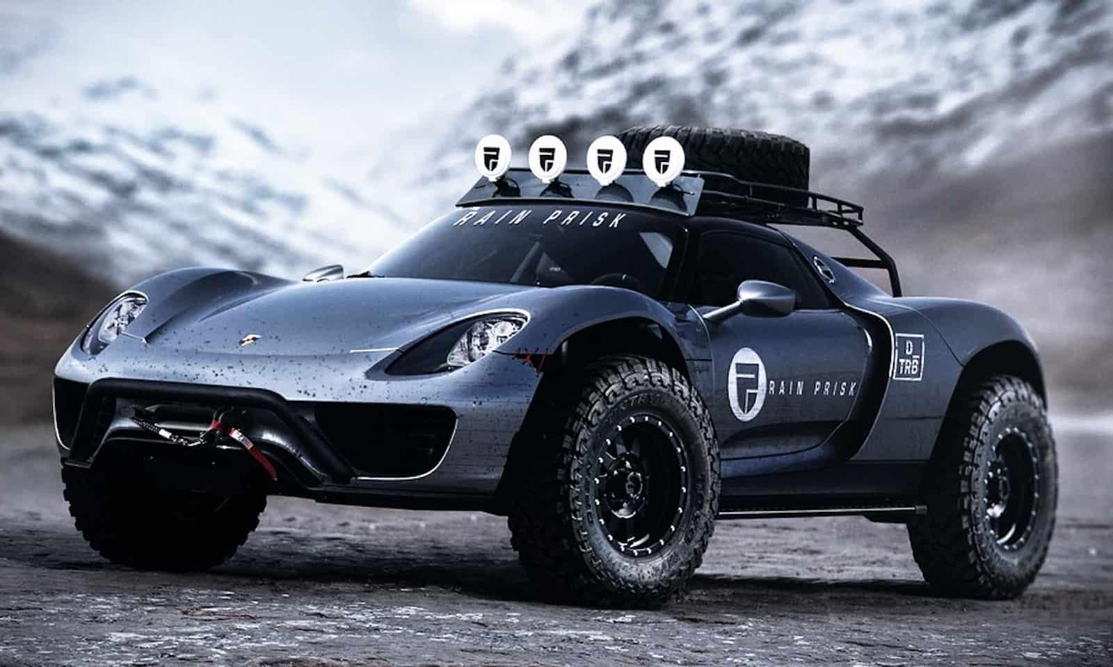 Best Overland Vehicles >> A 608-Horsepower Porsche 918 Spyder Off-Road Concept