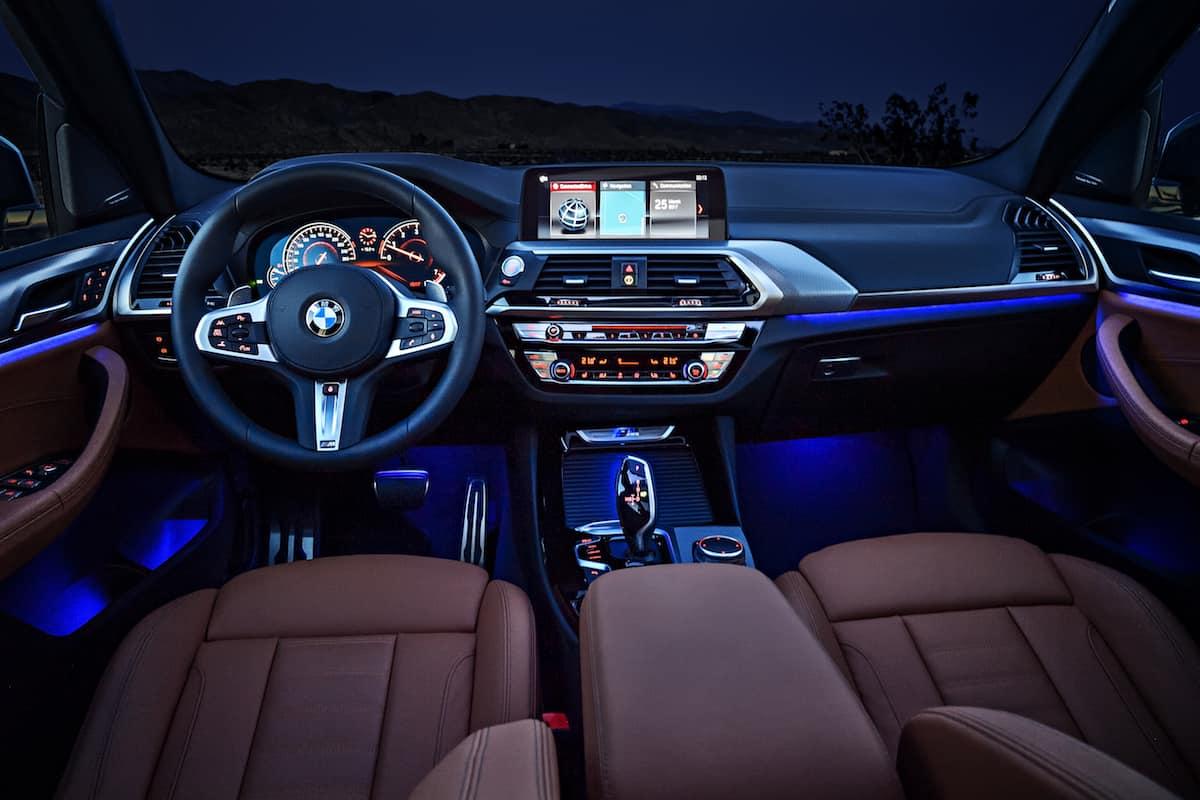 2018 BMW X3 dash night