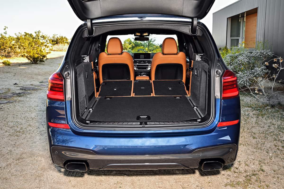 2018 BMW X3 rear cargo seats up