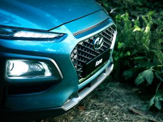 2018 Hyundai Kona front grill closeup
