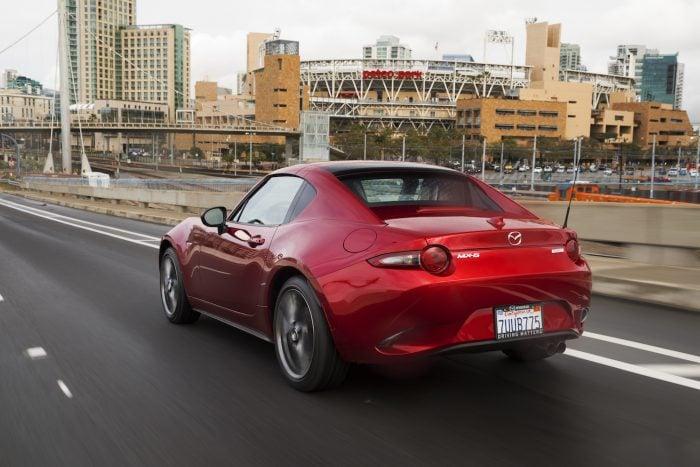 2017 Mazda MX-5 RF rear rolling red