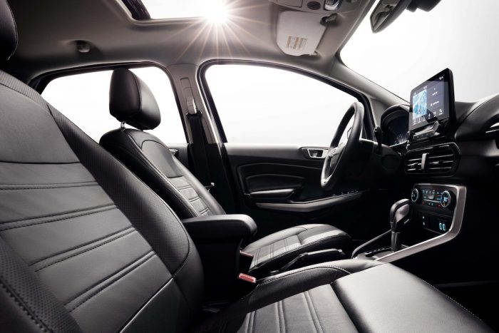 2018 Ford EcoSport Review front seats