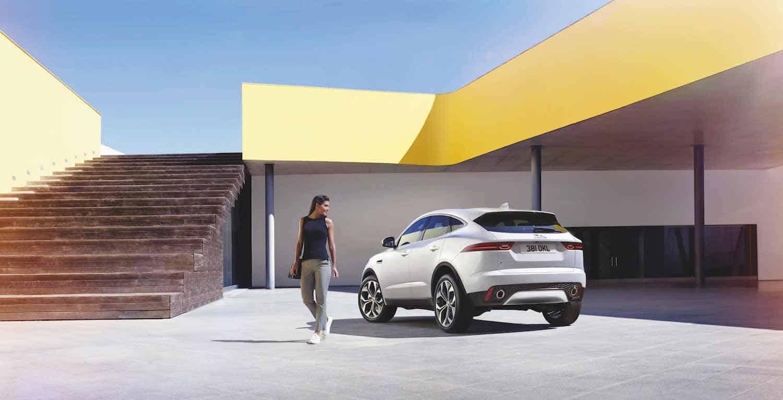2018 Jaguar E-PACE white rear