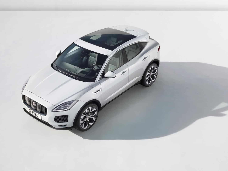 2018 Jaguar E-PACE white topview