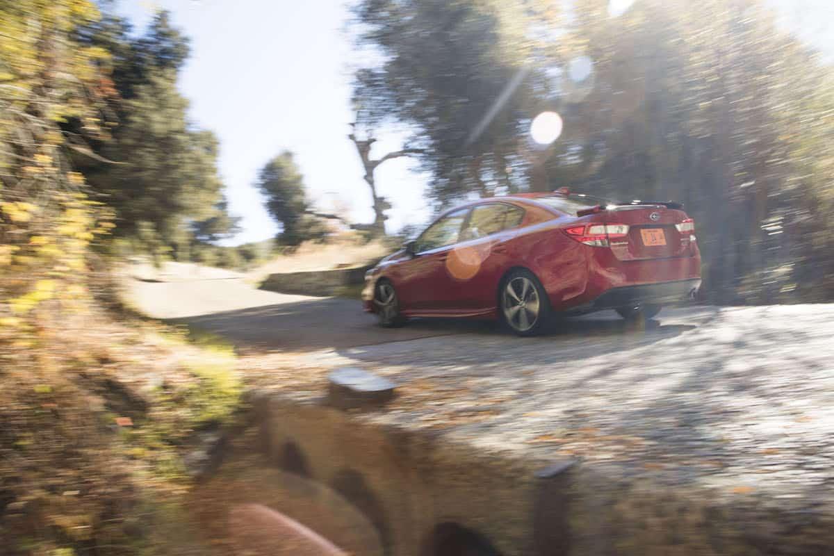 2017 Subaru Impreza review rolling rear