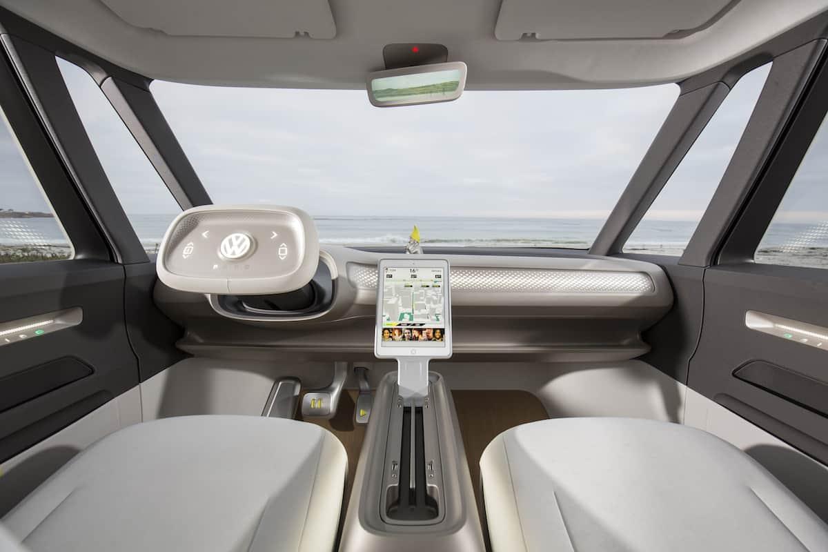 volkswagen I.D. BUZZ electric concept cockpit