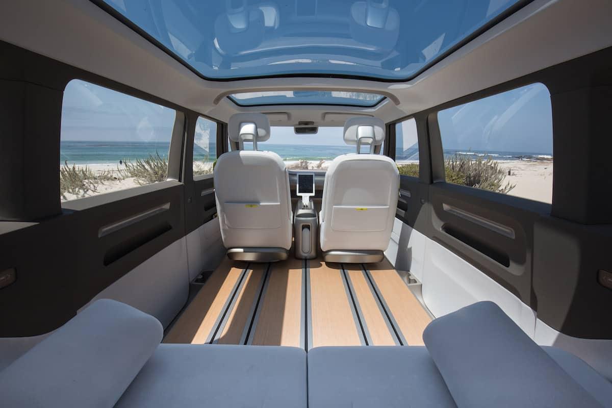 volkswagen I.D. BUZZ electric concept interior rear