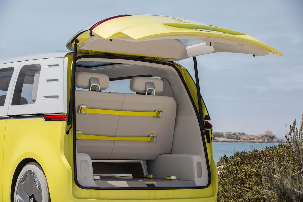 volkswagen I.D. BUZZ electric concept rear door open