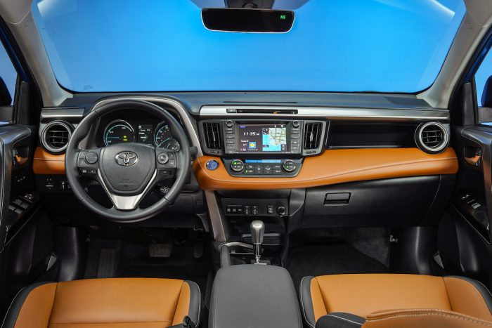 2017 Toyota RAV4 SE Hybrid Review interior