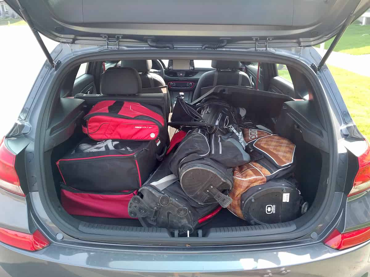 2018 Elantra GT Sport hatchback review cargo trunk