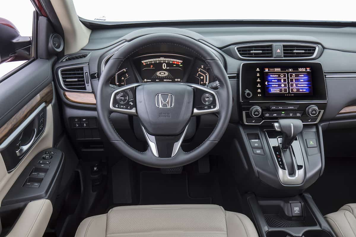 2017 Honda CR-V touring review interior