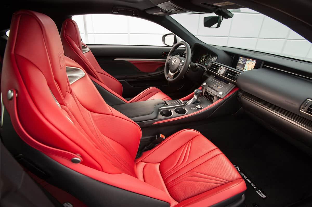 2017 Lexus RC F Review front seats