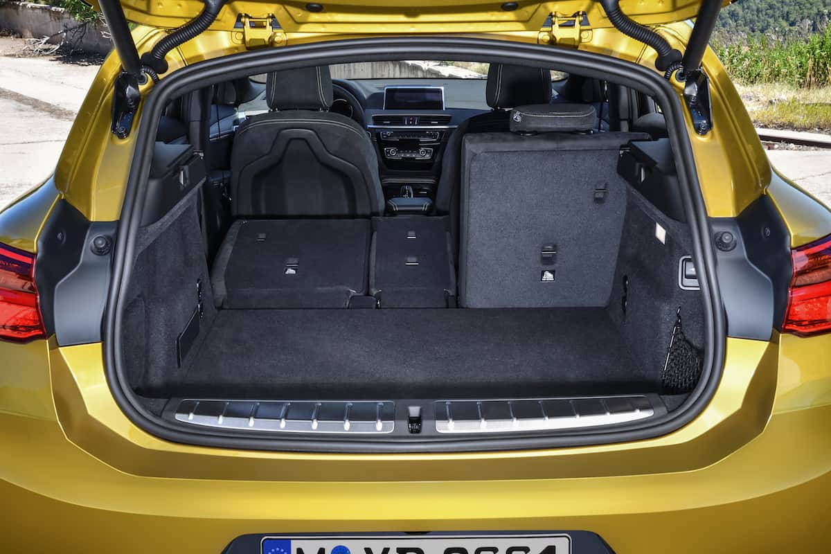 2018 bmw x2 crossover rear cargo