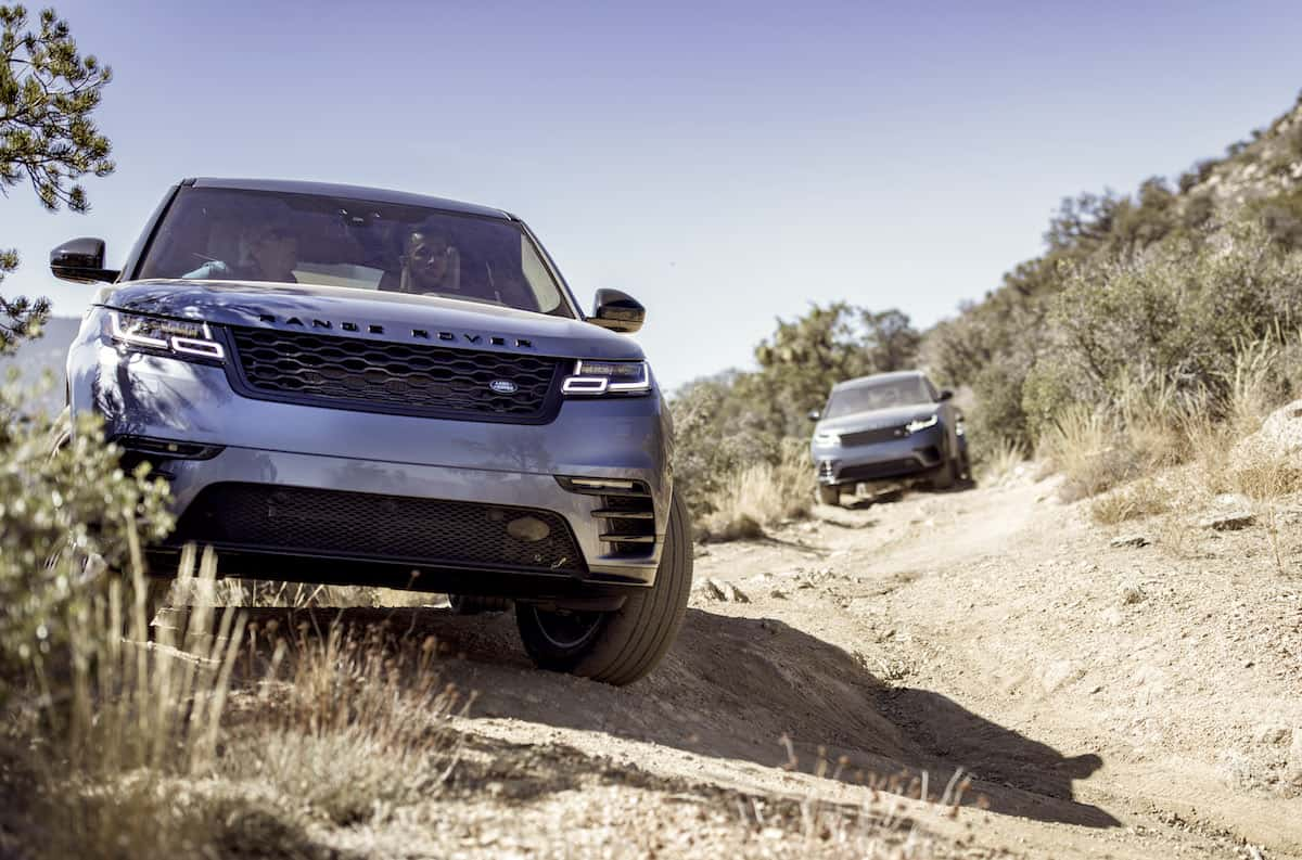 2018 range rover velar review front profile off road
