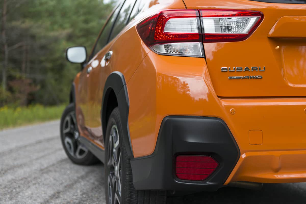 2018 subaru crosstrek review rear taillight