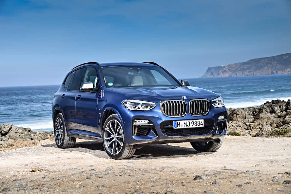all-new 2018 bmw x3 m40i m performance front angle view