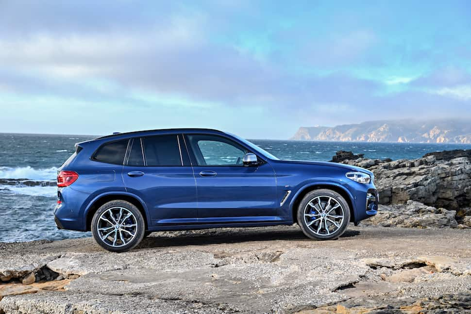 all-new 2018 bmw x3 m40i m performance side view 2