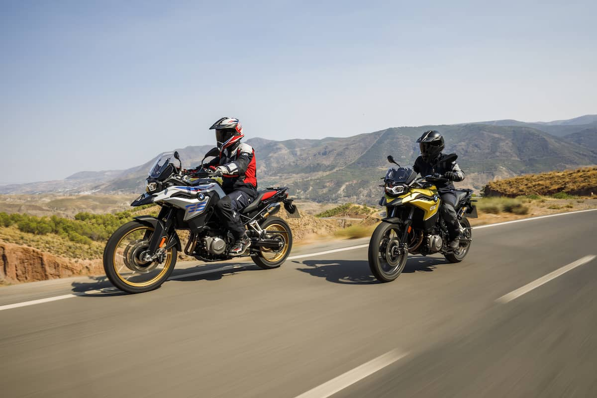 2018 F 750 GS and F 850 GS riding highway