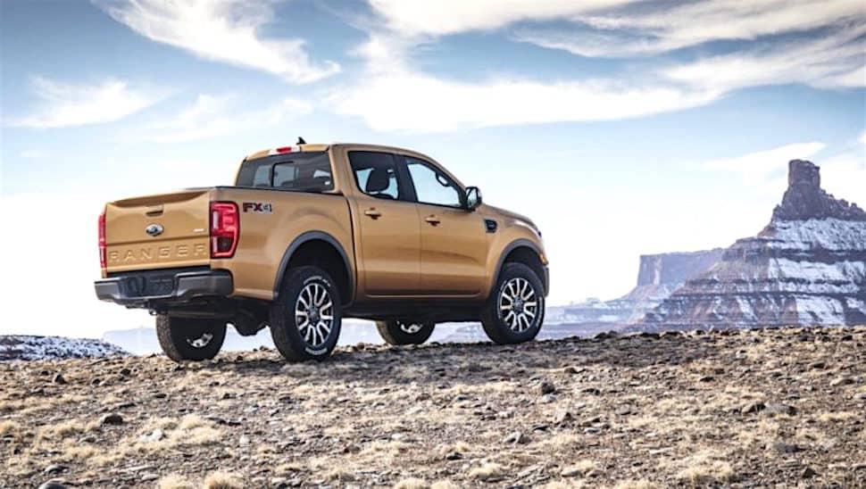 new ranger pickup rear view