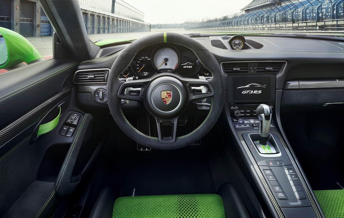 2019 Porsche 911 GT3 RS cockpit
