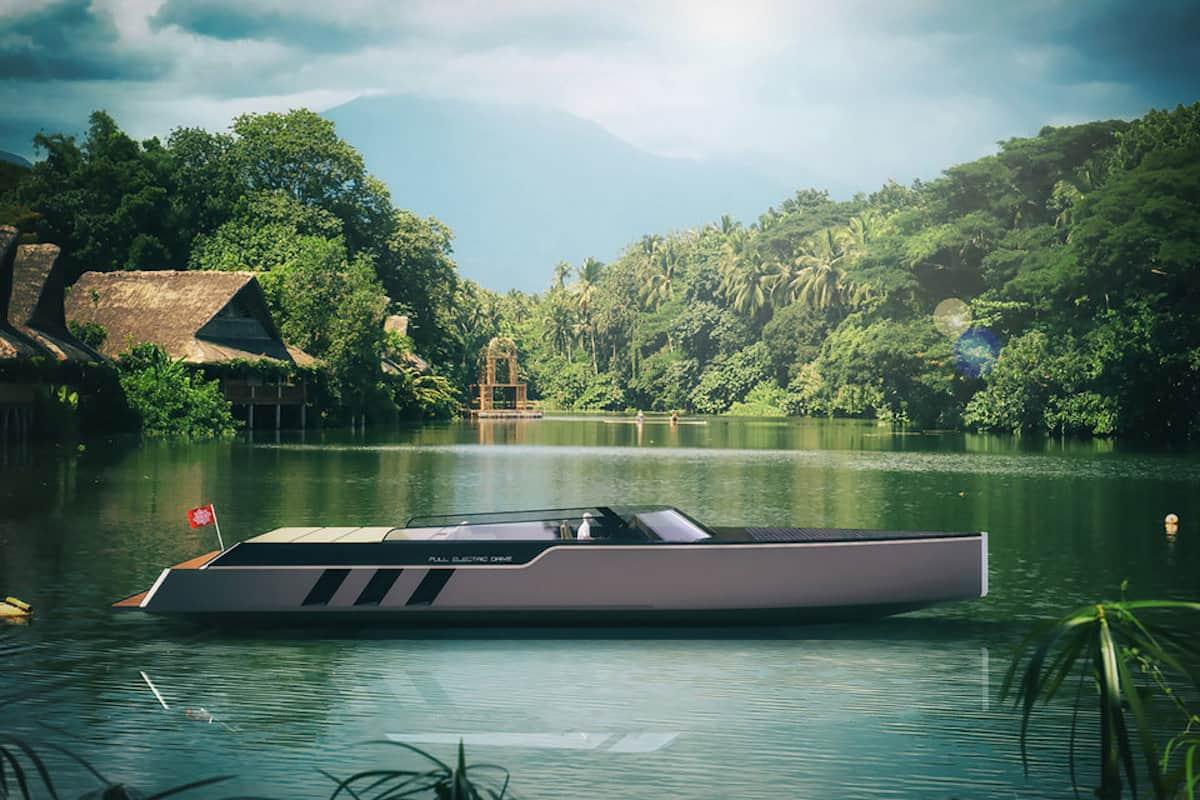 Tesla E-Vision GT Boat concept sideview