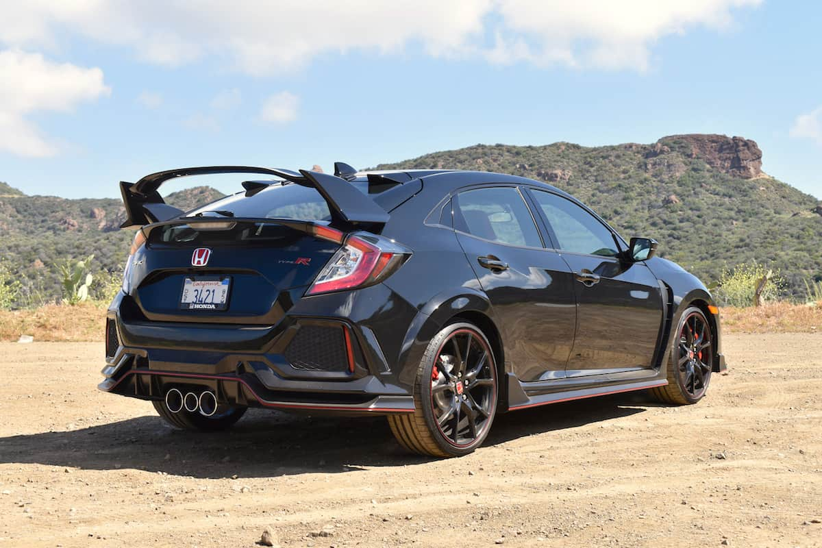 2018 honda civic type r rear black