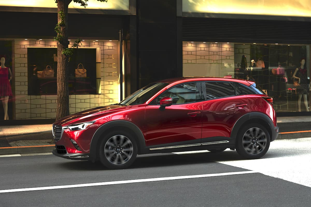 2019 Mazda Cx 3 Red Sideview On Street Side