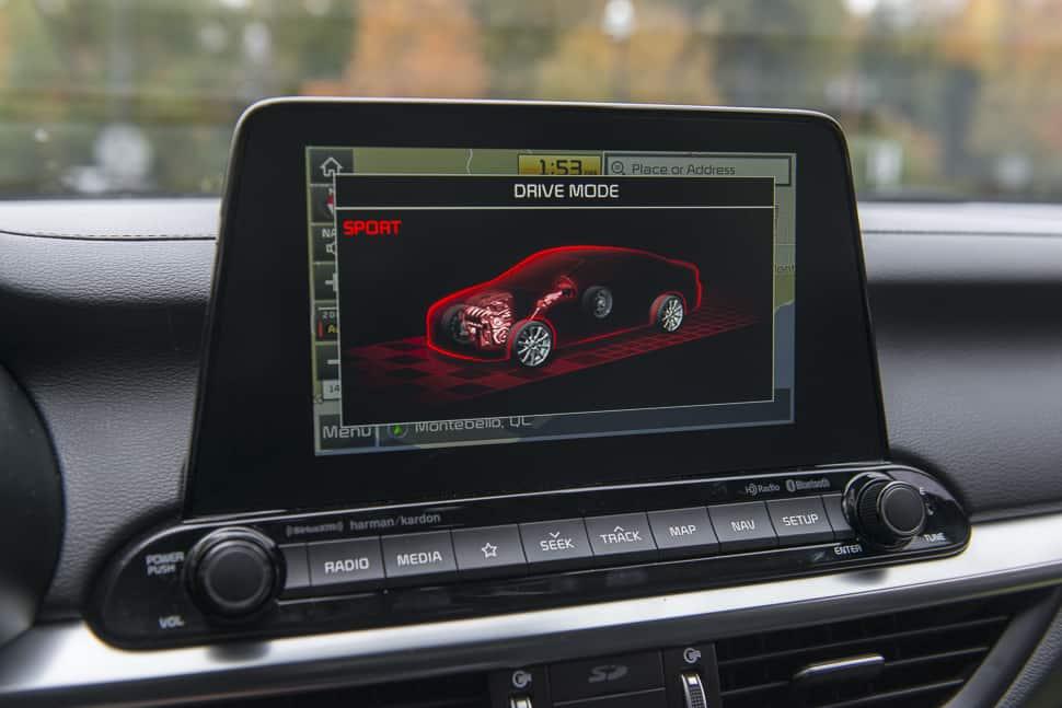 2019 Kia Forte review sport mode 8-inch screen display