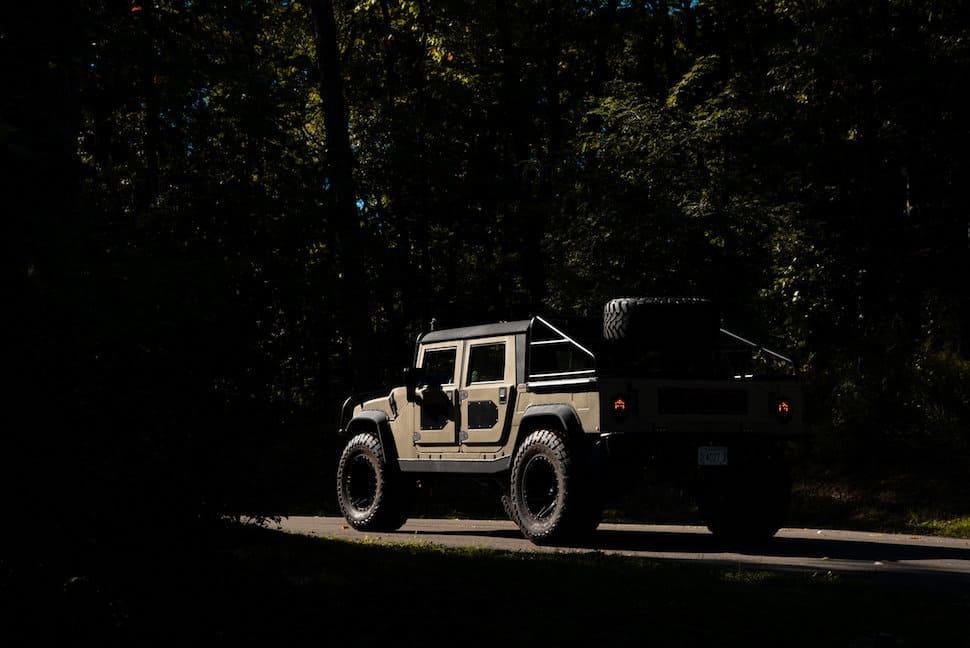 Hummer SUV baja style off-roader rear