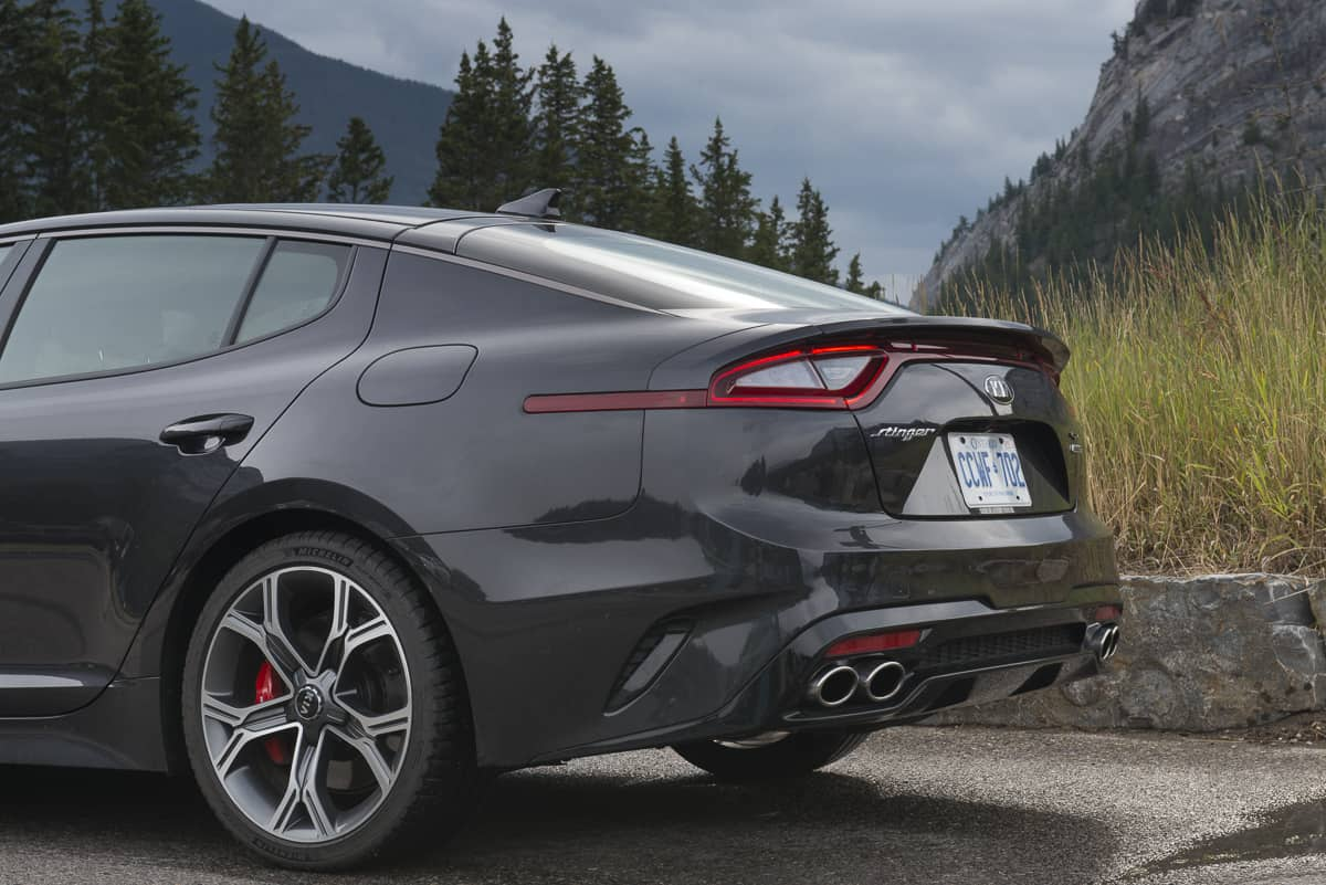 2018 Kia Stinger GT rear end profile