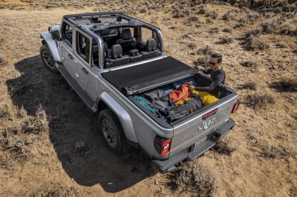 2020 Jeep Gladiator rear cargo view