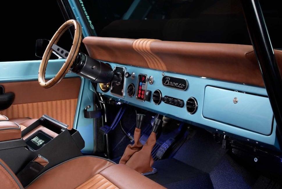 670-hp 4-Door Bronco Restored to Perfection dash