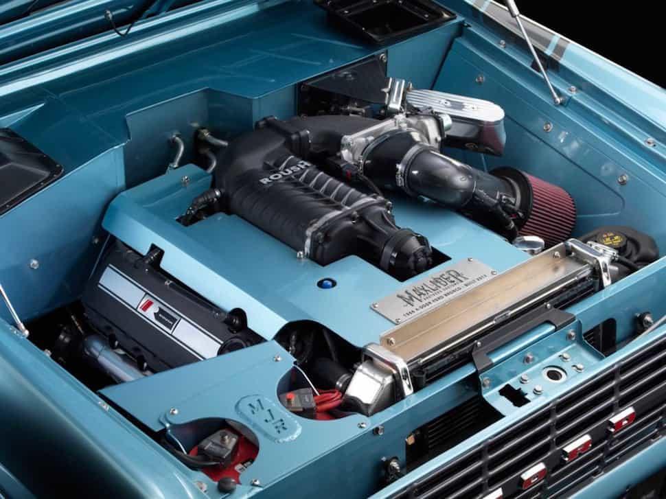 670-hp 4-Door Bronco Restored to Perfection engine