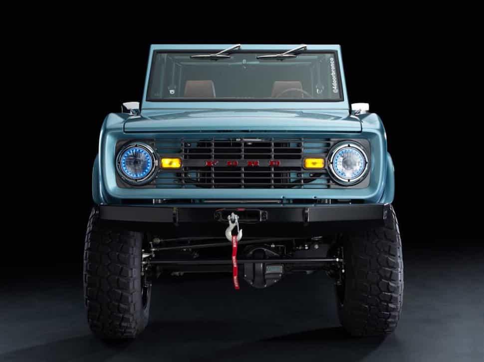 670-hp 4-Door Bronco Restored to Perfection grill