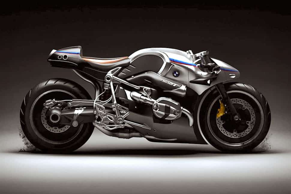 BMW R NineT Aurora Concept Motorcycle sideview