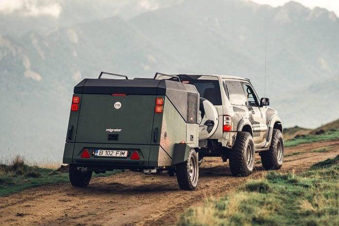 migrator-off-road-camper on the road