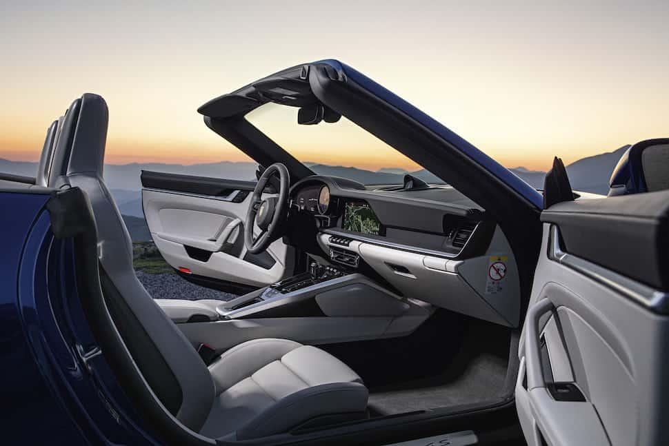 2020 Porsche 911 Cabriolet interior