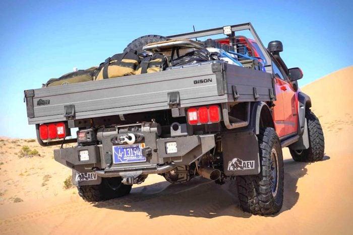 2019 Colorado ZR2 Bison Tray Bed Concept rear view