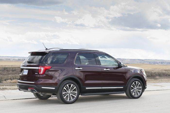 2019 Ford Explorer Platinum rear view
