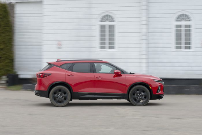 2020 Chevy Blazer RS rolling side view amee reehal
