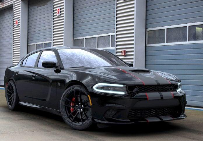 2019 Dodge Charger SRT Hellcat Octane Edition satin black front view