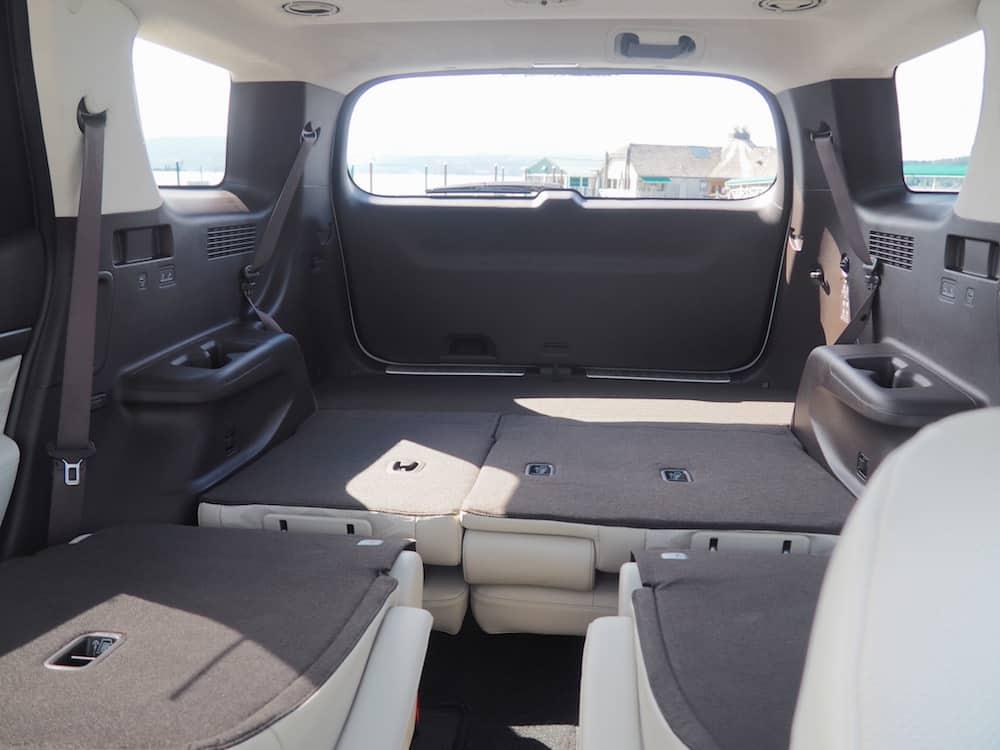 2020 hyundai palisade rear cargo and seats down